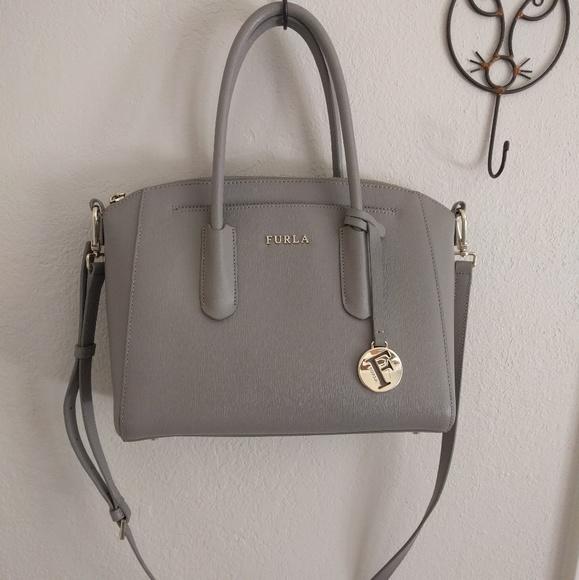 outlet on sale top design unique design Furla Bags | Tessa Saffiano Leather Satchel Bag Sabbia | Poshmark